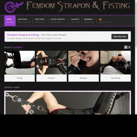femdom strapon fisting
